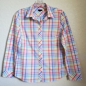 NWOT TALBOTS WOMEN'S BUTRON DOWN SHIRT SZ SP